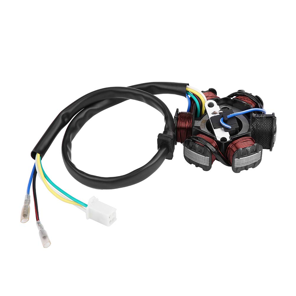 High Performance Racing 6 Pin Racing AC CDI Ignition Coil Spark Plug Magneto Stator Fit for GY6 125cc 150cc ATV Scooter Moped Dirt Bike Go Kart