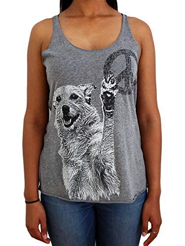 Paw Addict Activewear Running Workouts Clothes Yoga Racerback Tank Tops for Women & Girls- Soft & Comfortable Dog Tank - Proudly USA Made - Pet Lovers, Rescue Center, Mom, Daughter (Small)