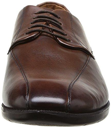 Clarks Glenrise Over - zapatos con cordones de cuero hombre Marrón (Walnut Leather)