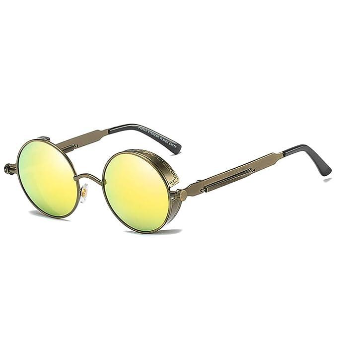JiXuan Gafas Redondas de Metal polarizadas Gafas de sol ...