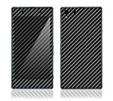 xperia z1 carbon fiber - Protective Decal Skin Sticker Vinyl Phone Cover for Sony Xperia Z1 w/ Matching Wallpaper - Carbon Fiber