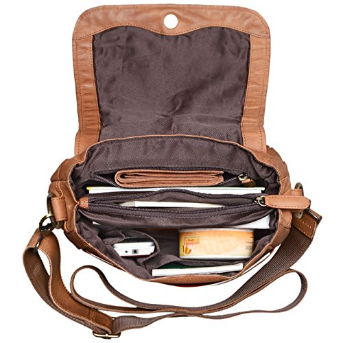 Bag Cross Women Leather Bag 'Mia' Colour Freetime Braided Brown Party Small Shopping girona Shoulder in STILORD Genuine Vintage Brown Hand Bag Girona Body for for Leather Ladies qP1wnXx0