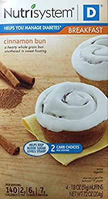 Nutrisystem D Cinnamon Buns Breakfast, 4 - 1.8 OZ (51g) Count
