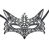 Embiofuels(TM) Mysterious Angel 2pic Girls Woman Lady Fashion Black Mask Lace Sexy Ball
