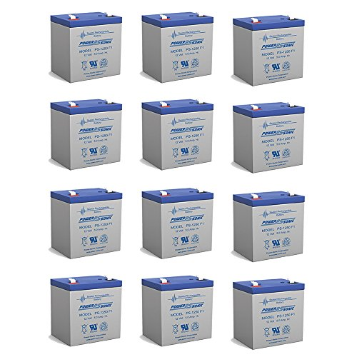 12V 5AH UPS Battery Replaces Vision CP1250, CP 1250 - 12 Pack by Powersonic