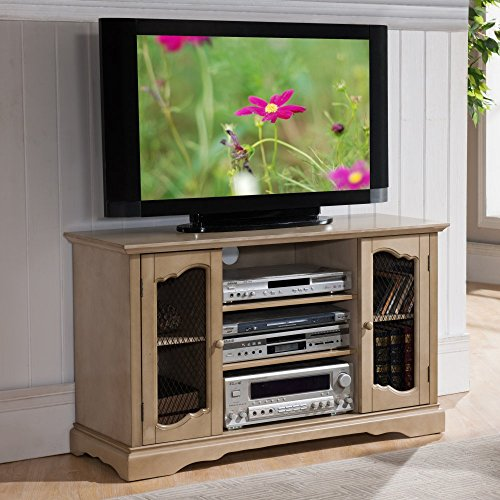 Cheap K&B Furniture 42 in. TV Stand with Adjustable Shelf