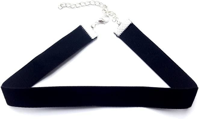17 MORE COLOUR CHOICES BLACK VELVET CHOKER WITH HANDCRAFTED PENDANT PIECE
