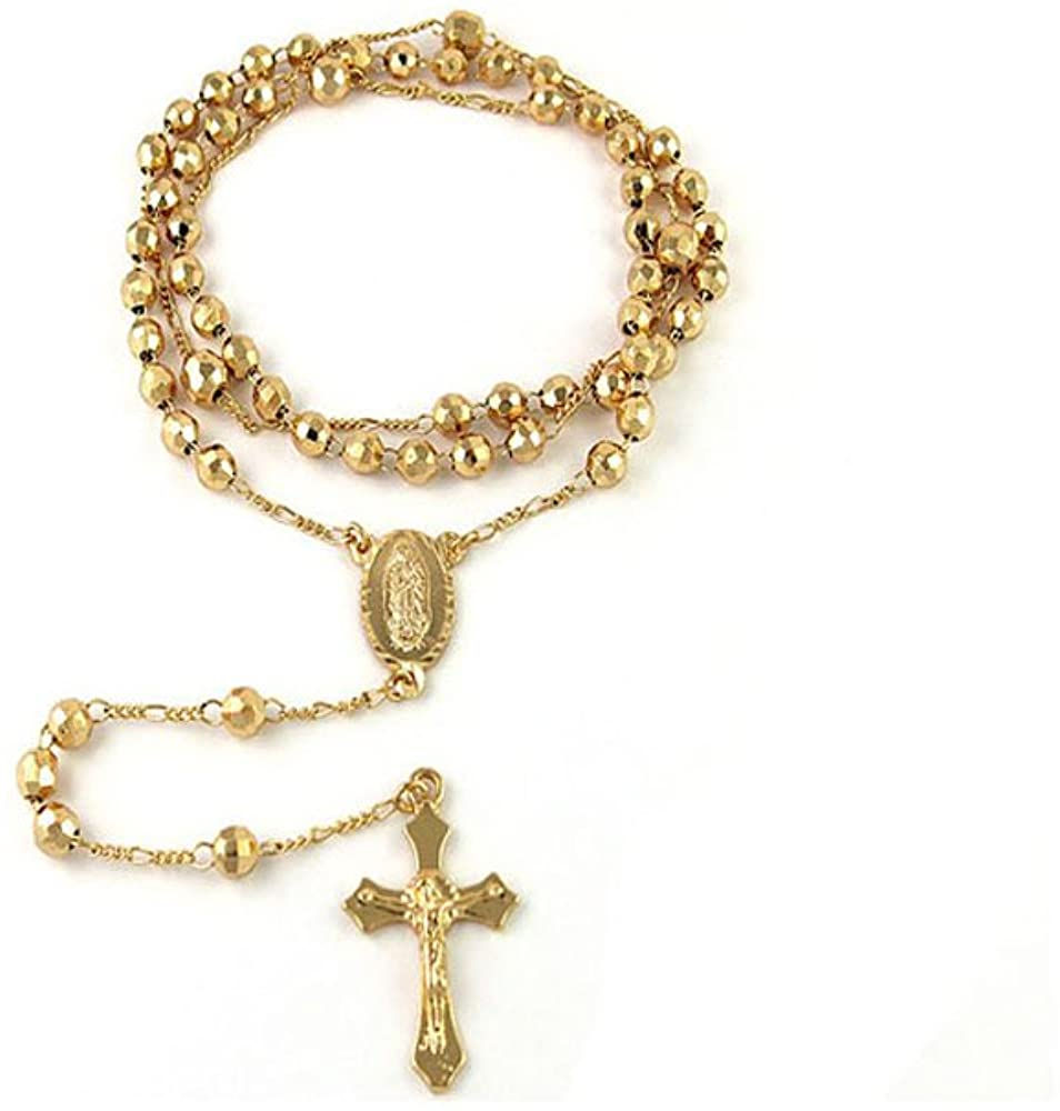 "Verona Jewelers 24"" Gold Plated Rosary Necklace"