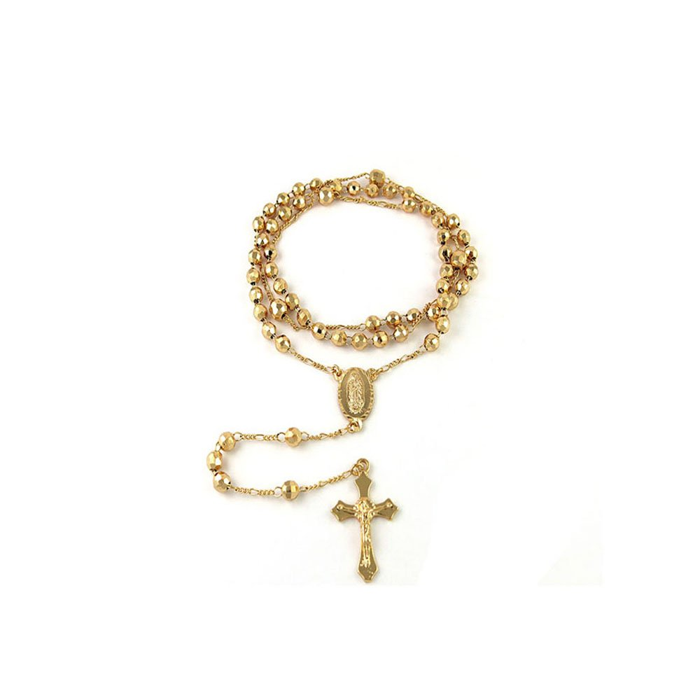 Verona Jewelers 24'' Gold Plated Rosary Necklace by Verona Jewelers