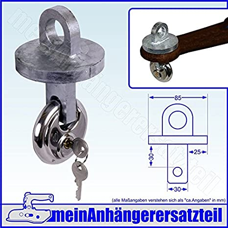 Vorhängeschloss Kupplungs-Schloss für DIN-Zugöse 40 mm Kupplungsschloss