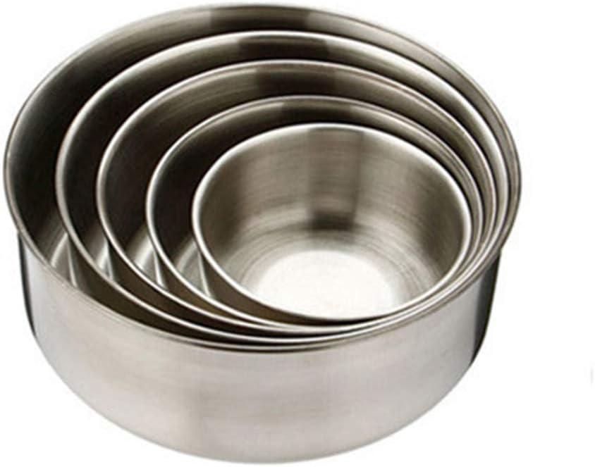 cajas multicolor herm/éticos para conservar el almuerzo aperitivos ZHOUBA Juego de 5 recipientes de acero inoxidable para almacenamiento de alimentos con tapas cuencos