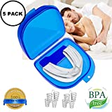 Mouth Guard for Grinding Teeth, Snoring Mouthpiece, Night Guards for Teeth Grinding, Snoring Solution, Dental TMJ Mouth and Bite Guard for teeth grinding, Best Nose Vents Nasal Dilator