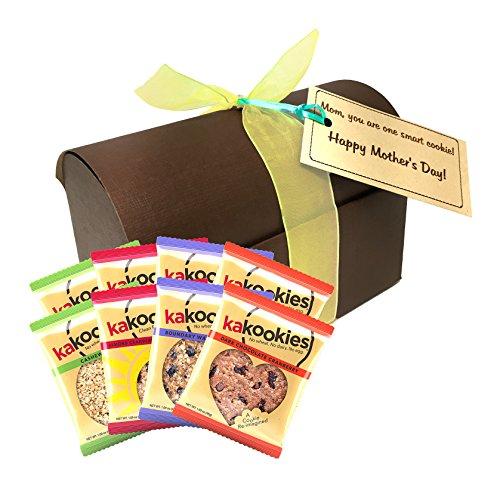 Kakookies Mother's Day Limited Edition Gift Box (Assortment of 8 Cookies) - Vegan, Gluten Friendly, Superfood Energy Snack Cookies