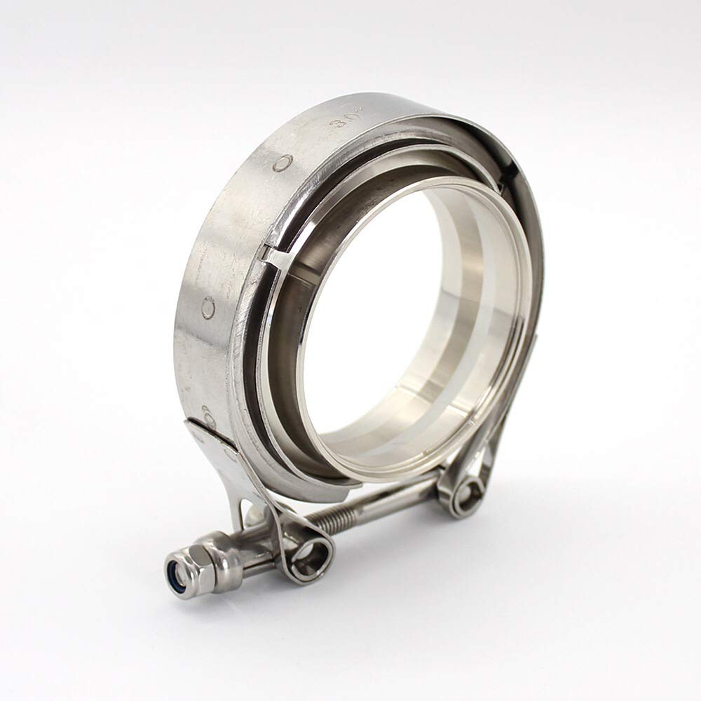 2.0inch-51mm Stainless Steel Auto 2.0inch V band Clamp 2.0 V-band Exhaust FlangeTurbo Exhaust Vband V Clamps Kits