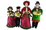Santa's Workshop Christmas Day Carolers Figurine, Set of 4, 27'' x 37''