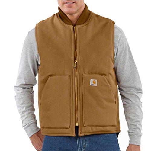 Regular Carhartt Arctic Quilt Lined Duck Vest, BROWN, LG (Vest Quilt Lined Duck)