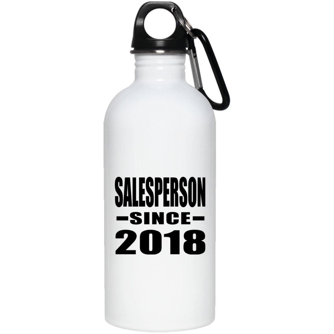 Salesperson Since 2018 - Water Bottle Bouteille d'eau Acier Inoxydable Gobelet-Thermos - Cadeau pour Anniversaire Fête des Mères Fête des Pères Pâques