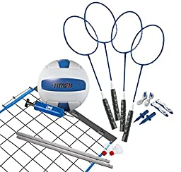 Verus Sports Champion 2-Game Volleyball/Badminton Set