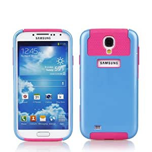 Century Accessory Double Layer Rugged Rubber Matte Hard Case For Samsung Galaxy S4 i9500 Blue