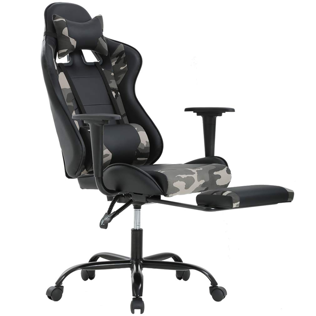 Ergonomic Office Chair PC Gaming Chair Cheap Desk Chair PU Leather Executive Rolling Swivel Chair Computer Lumbar Support for Women, Men