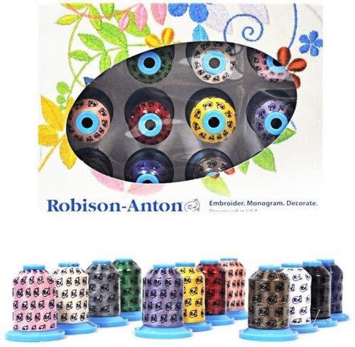 (Robison Anton Top 12 Polyester Embroidery Thread Set)