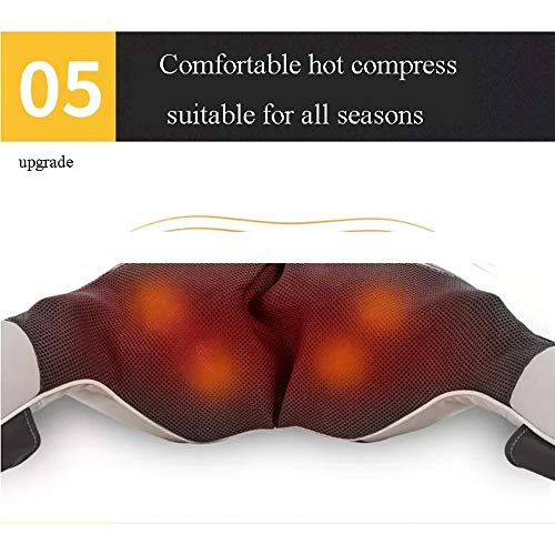 GAOQQ Shiatsu Back Neck and Shoulder Massager with Heat - Deep Tissue Cervical Spine Kneading Multi-Function Massager for Office Home Car Use by GAOQQ (Image #5)