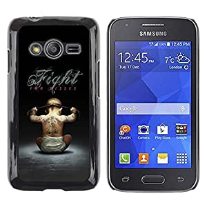 LECELL -- Funda protectora / Cubierta / Piel For Samsung Galaxy Ace 4 G313 SM-G313F -- Fight For Kisses Funny --