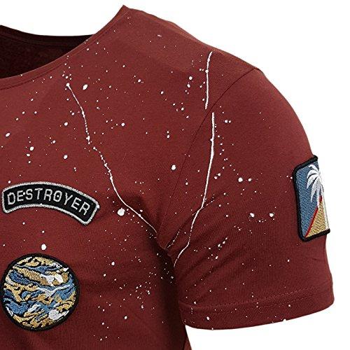Rusty Neal Herren T-Shirts T-Shirt rot bordeaux S