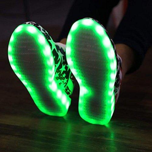 JUNGLEST (Présents:Petite Serviette) Cravog Chaussures de Sports Baskets 8 Couleurs Homme Femme USB Charge LED Lu initial SvWZHwD5