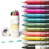 Metallic Markers Paint Pens for Card Making- Rock Painting -Bullet Journal-Scrapbooking- Doodling- Photo Album-Crafts,Metal,Wood- Glitter Set of 12 Medium tip Point Pens
