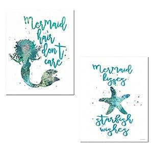 51rhhKxx0FL._SS300_ Mermaid Wall Art and Mermaid Wall Decor