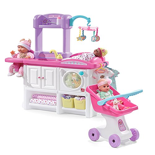 Step2 Love and Care Deluxe Nursery Playset with Doll Stroller