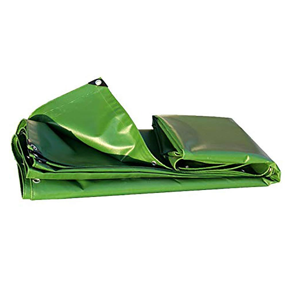 ターポリン アイレットが付いている頑丈な防水防水シートの防雨の防水シートシートの日焼け止めの布の日除けの日よけ、580g / mの²オリーブ色 (サイズ さいず : 3mx5m) B07SDRK9PB  3mx5m