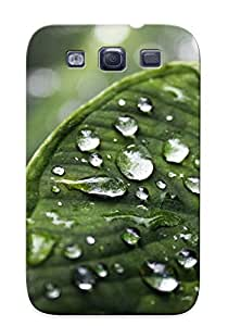 Graceyou High-quality Durability Case For Galaxy S3(wet Leaf )