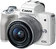 Canon EOS M50 Mirrorless Vlogging Camera Kit with EF-M 15-45mm Lens, 4K Video, Built-in Wi-Fi, NFC and Bluetoo