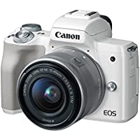 Canon EOS M50 Mirrorless Camera Kit w/EF-M15-45mm Lens and 4K Video (White)