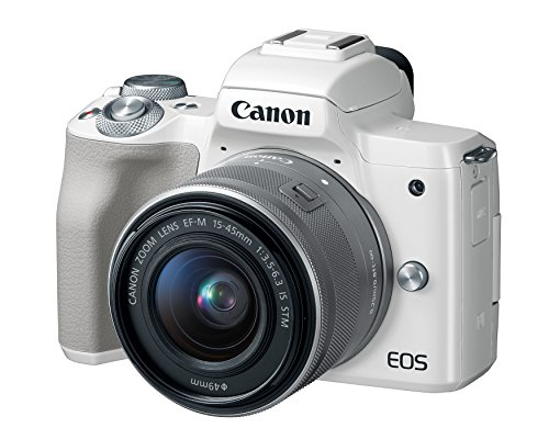 Canon EOS M50 Mirrorless Camera Kit w/ EF-M15-45mm Lens and 4K Video (White) (Best Mirrorless Camera 2019 Under 1000)