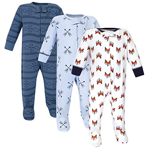 Yoga Sprout Baby Zipper Sleep N Play, Fox 3 Pack, 3-6 Months (6M)