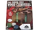 240 Poker Chip Wood Carousel