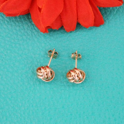 14k White Gold Love Knot Stud Earrings - 10mm by Beauniq (Image #3)