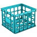 Sterilite 16924306 Storage Crate, Blue Aquarium, 6-Pack