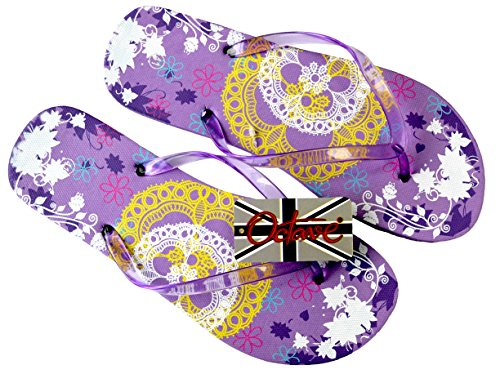 Infradito donna Design Purple Octave Lace XnASdU