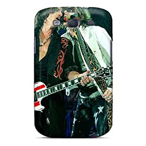 Shock Absorption Hard Cell-phone Cases For Samsung Galaxy S3 (DIQ2998rEma) Custom Realistic Aerosmith Band Image