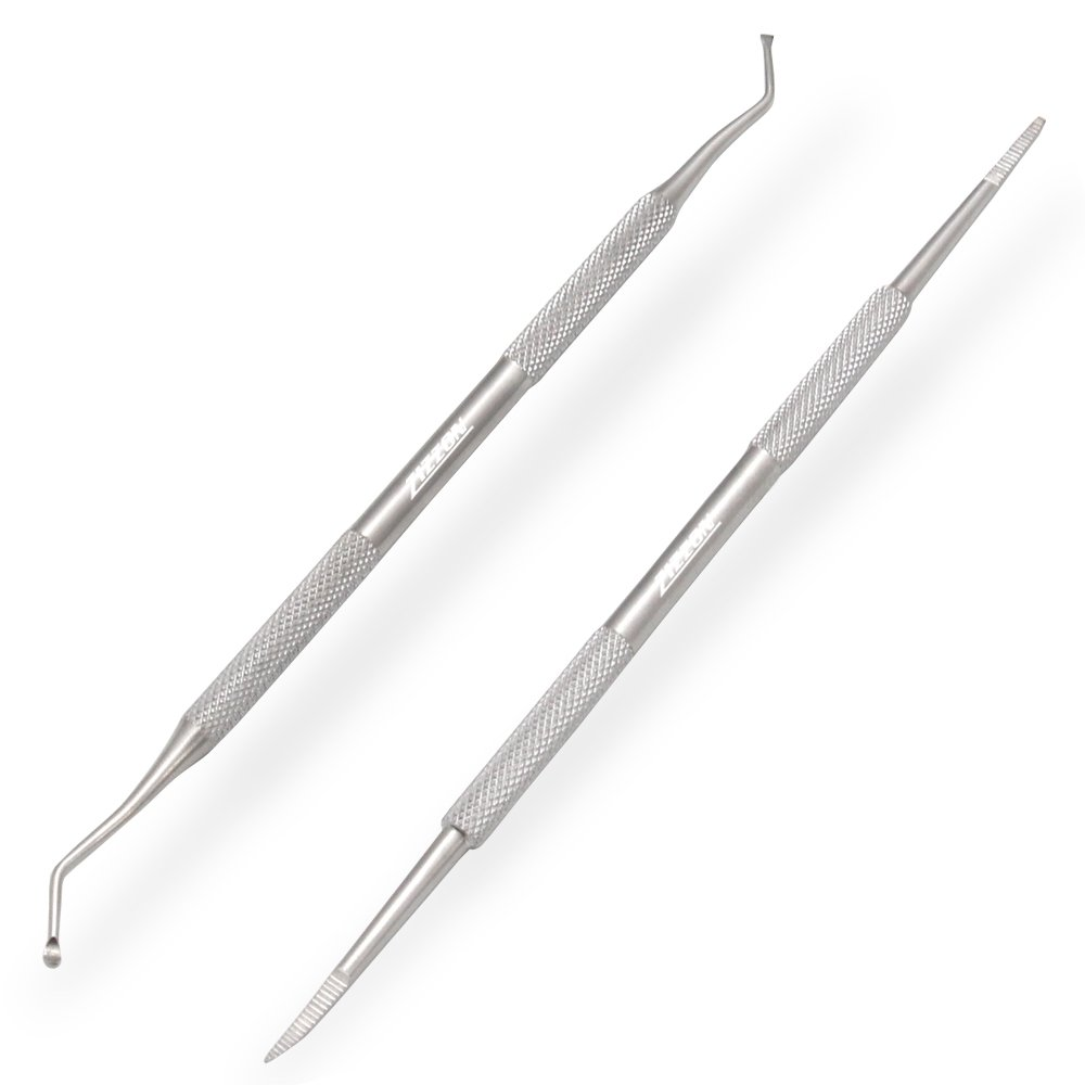 ZIZZON Ingrown Toenail File and Lifter Double Sided Professional Grade