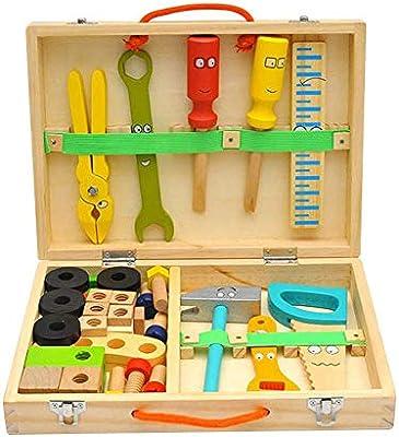 Caja De Herramientas De Madera Para Niños DIY Herramienta De ...