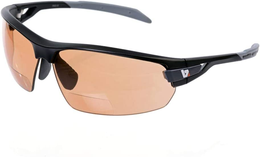 BZ Optics PHO Photochromic HD Bi-Focal Sunglasses 1.5 Matt Black