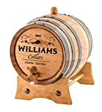 Personalized - Custom Wine Oak Aging Barrel - Barrel Aged (2 Liters)