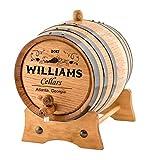 Personalized Wine Oak Aging Barrel - Custom Engraved (1 Liter)