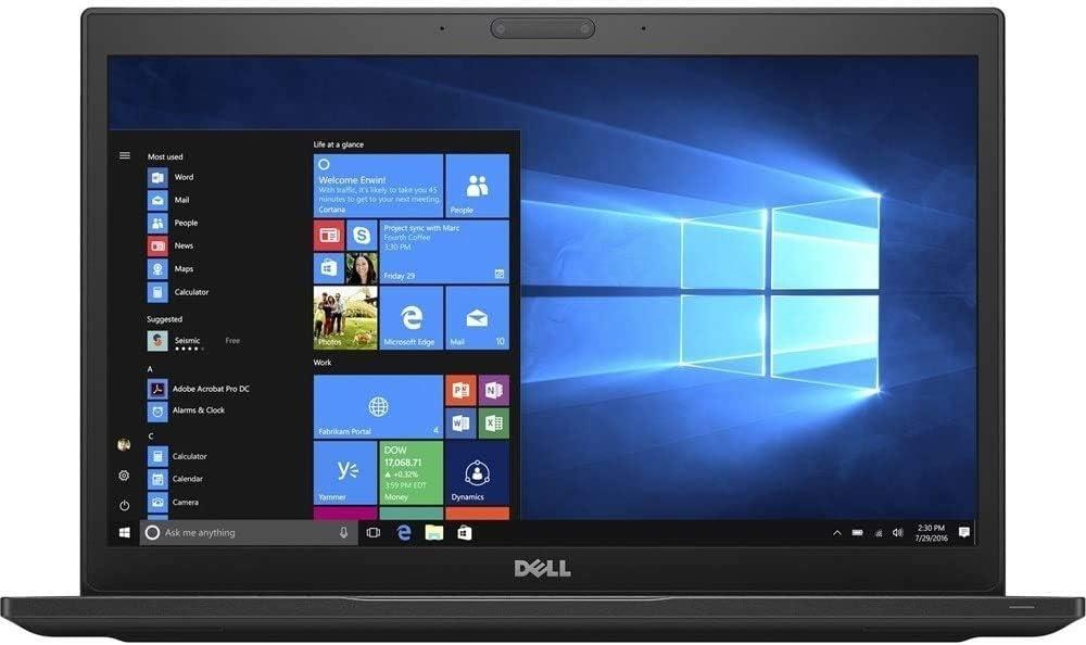 Dell Latitude 7480 Business-Class Laptop - 14.0 inch FHD Display, Intel Core i7-6600U 2.60 GHz, 8GB DDR4 RAM, 128GB M.2 SSD, Webcam, WiFi, SD Card Reader, Windows 10 Pro (Renewed)