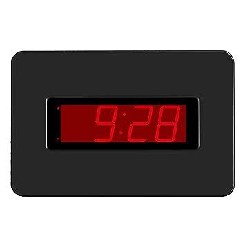 KWANWA Reloj de Pared Digital con Pilas Pantalla Grande Alarma Snooze Compatible con el Dormitorio, ...